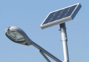 alumbrado externo solar